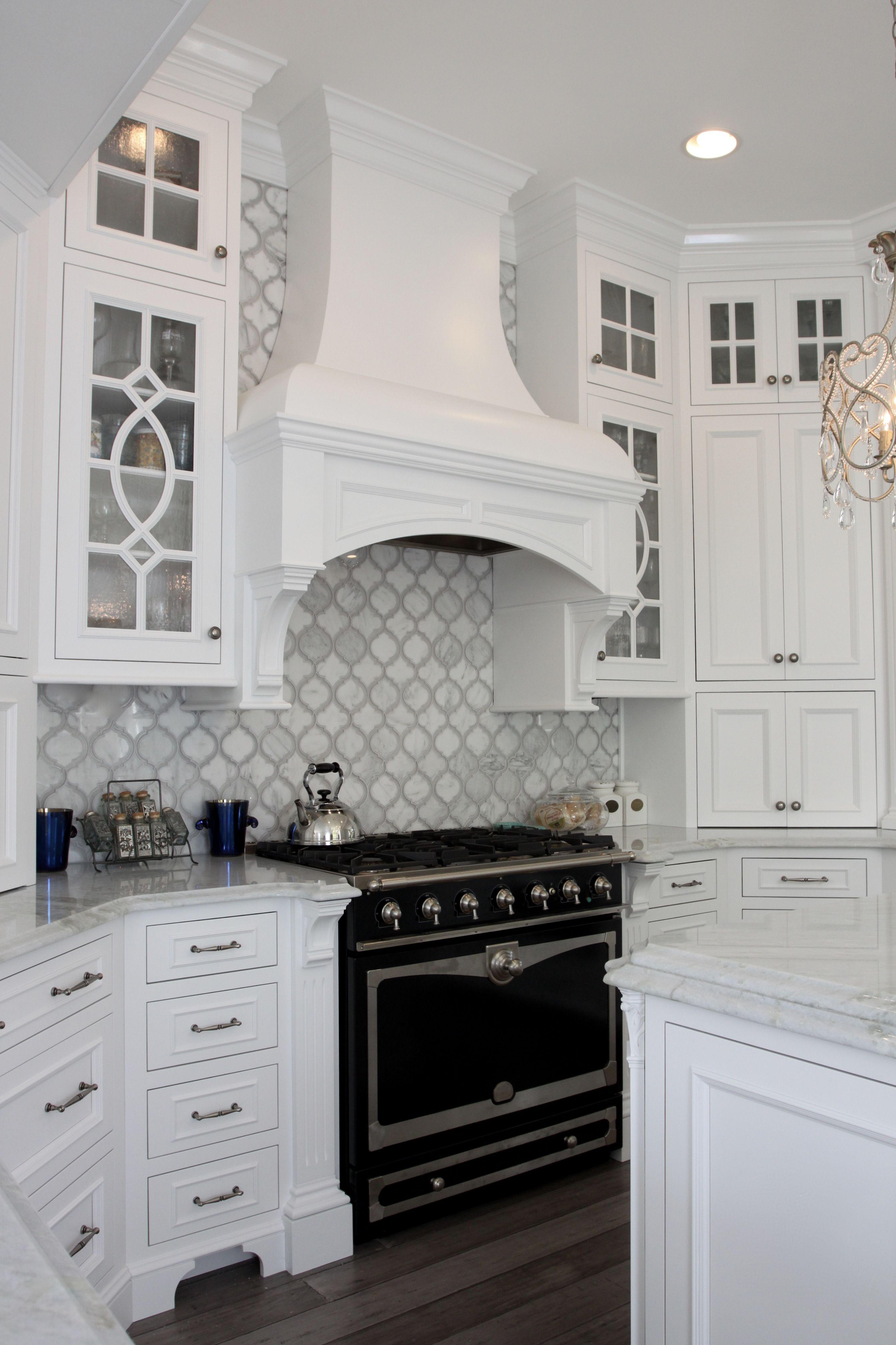 custom white wood hood and la cornue 36 inch range. Black Bedroom Furniture Sets. Home Design Ideas