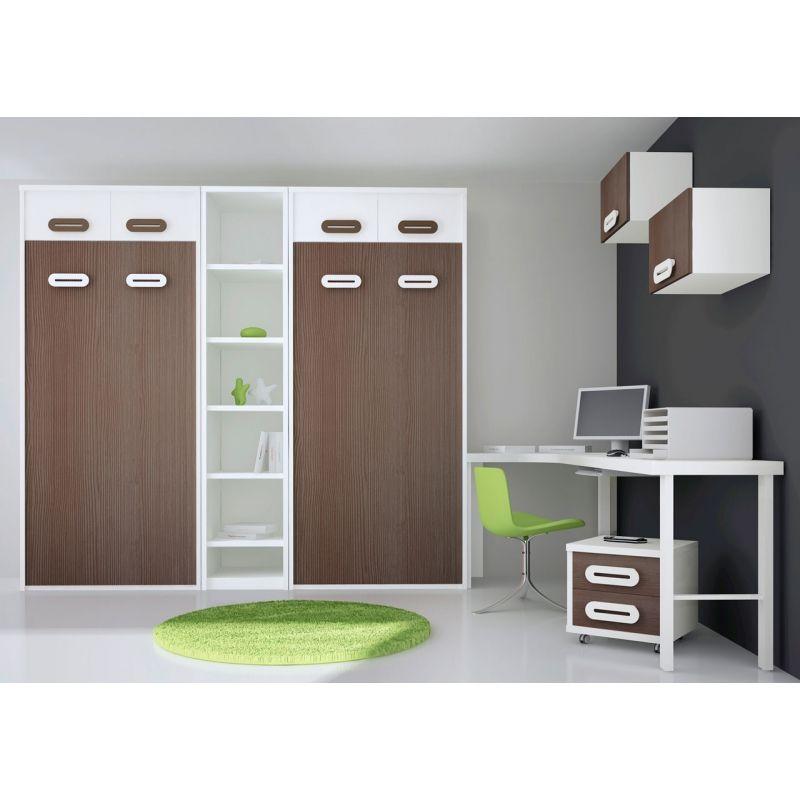 012 camas abatibles en vertical y mesa estudio rincon cama en 2019 camas abatibles mesas de - Literas plegables verticales ...