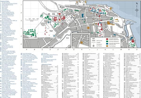 university of st andrews campus map St Andrews University Campus Map Campus Map St Andrews university of st andrews campus map