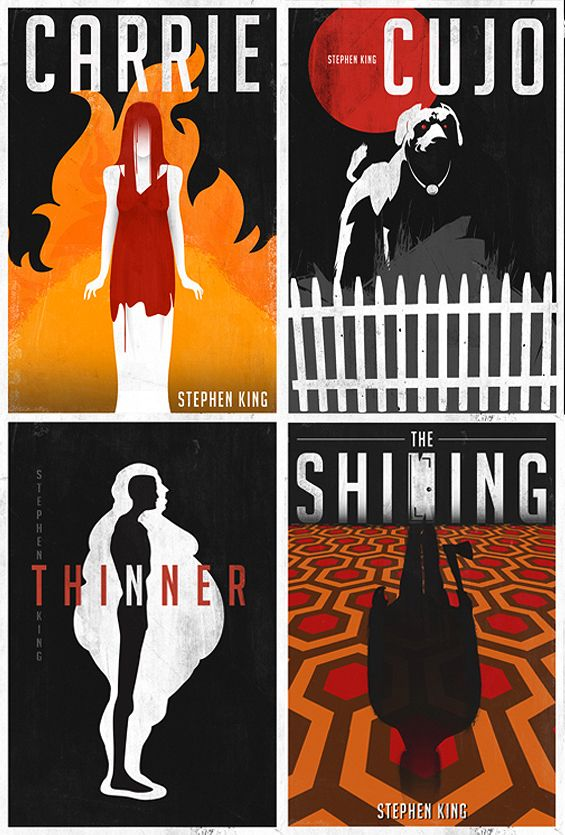 Minimalist Horror Book Covers ~ Stephen king covers re imagined best book
