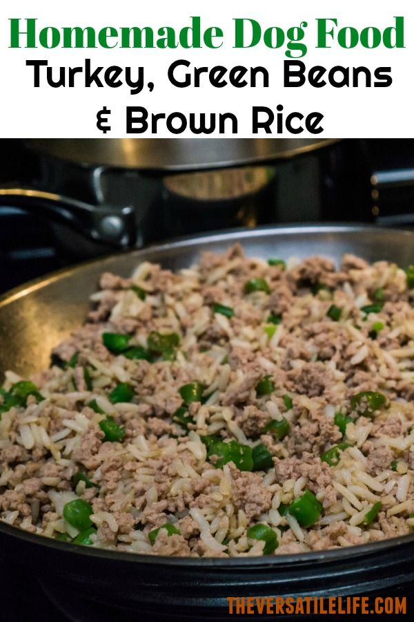 Homemade Dog Food Turkey Green Beans Brown Rice Healthy And