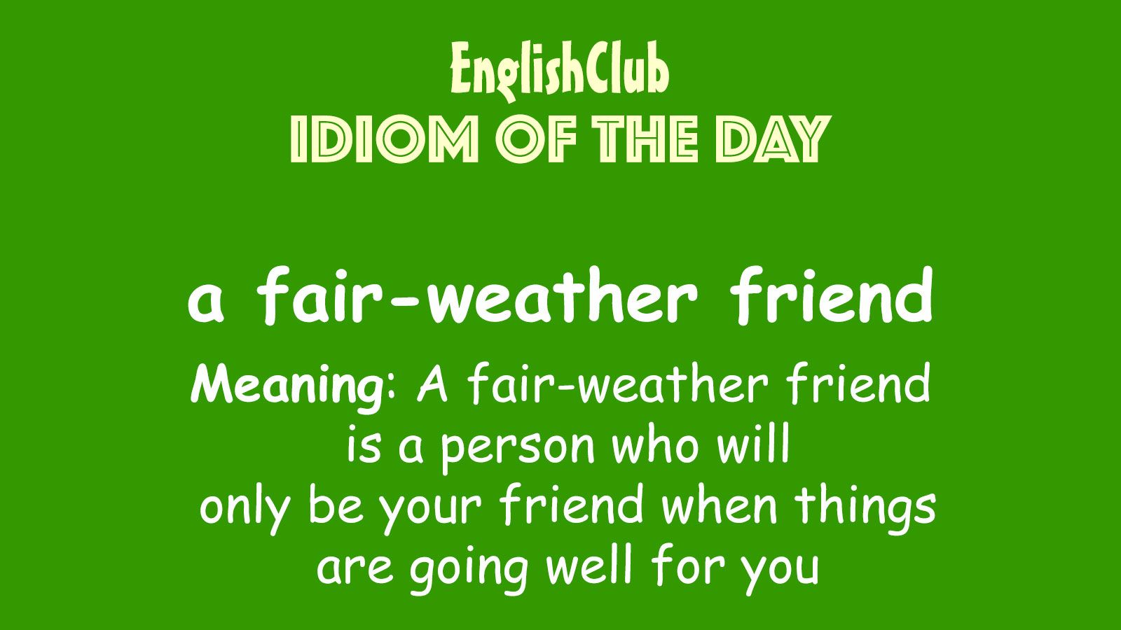 Pin By Tefl Net On Idiom Of The Day