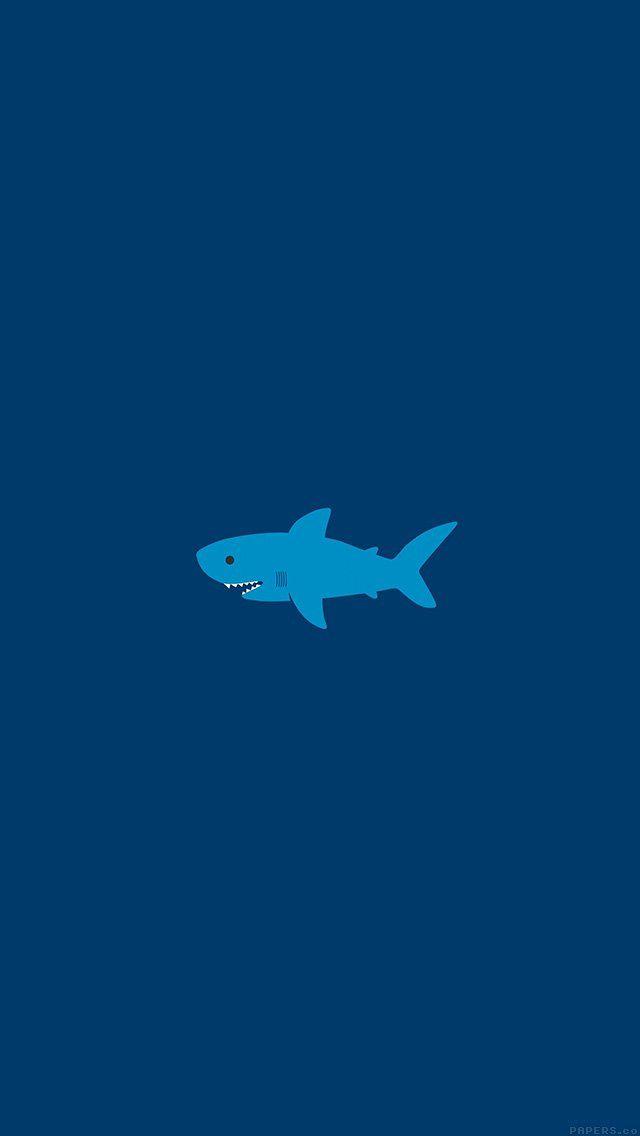 Ak01 Little Small Cute Shark Minimal L Wallpaper Iphone