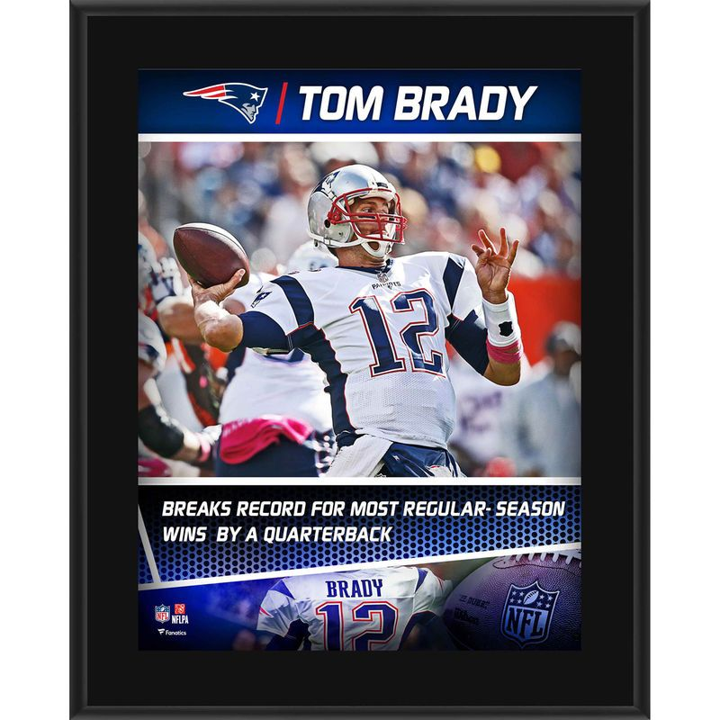Tom Brady New England Patriots Fanatics Authentic 10 5 X 13