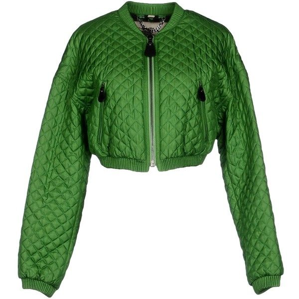 Burberry Prorsum Jacket (1,980 BAM) ❤ liked on Polyvore featuring outerwear, jackets, green, burberry, quilted jacket, zipper jacket, green zipper jacket i long sleeve jacket