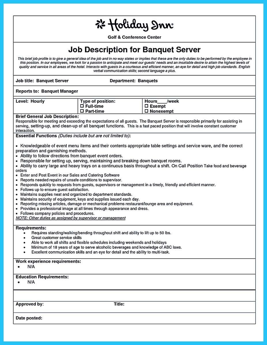 Banquet Manager Resume Nice Expert Banquet Server Resume Guides You Definitely Need Check .