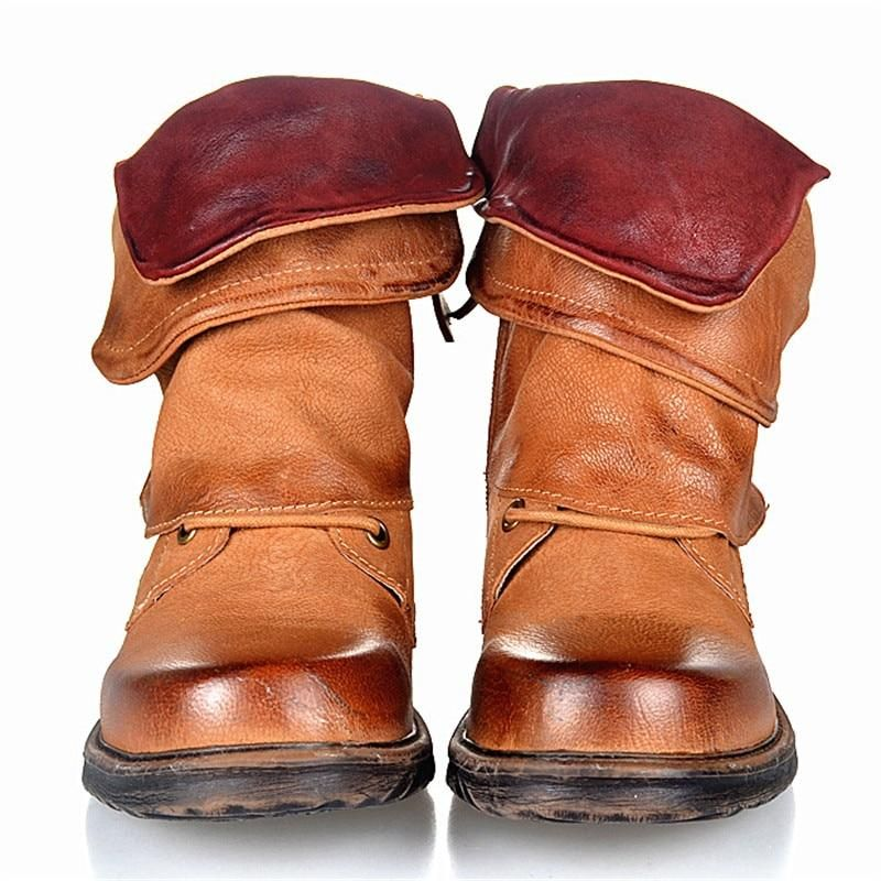 3627d4a9a81a2 Department Name: AdultItem Type: BootsLining Material: Genuine LeatherWith  Platforms: YesHeel Height: Low (1cm-3cm)Fashion Element: BuckleOutsole  Material: ...