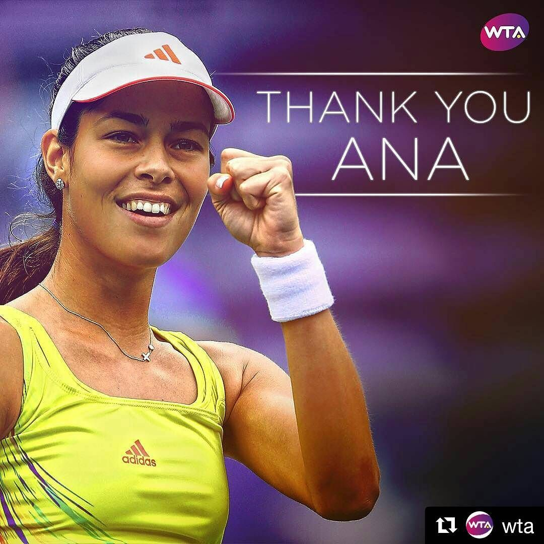 Former World No.1 and Grand Slam Champion @AnaIvanovic has announced her retirement from professional tennis.   #ThankYouAna  Repost from @wta