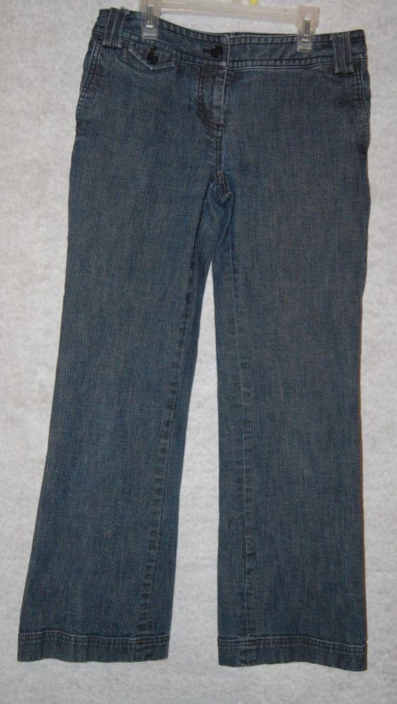 """Talbots Petites Womens Denim Jeans Pants Size 4 4P Sig Flare 2 W 31"""" L 28.5"""" #Talbots #Flare"""