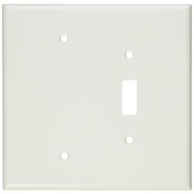 Leviton 2 Gang 1 Toggle 1 Blank Device Combination Wall Plate