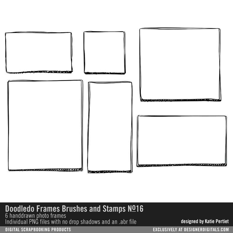 DoodleDo Frames No. 16 Brushes and Stamps digital stamp doodles ...