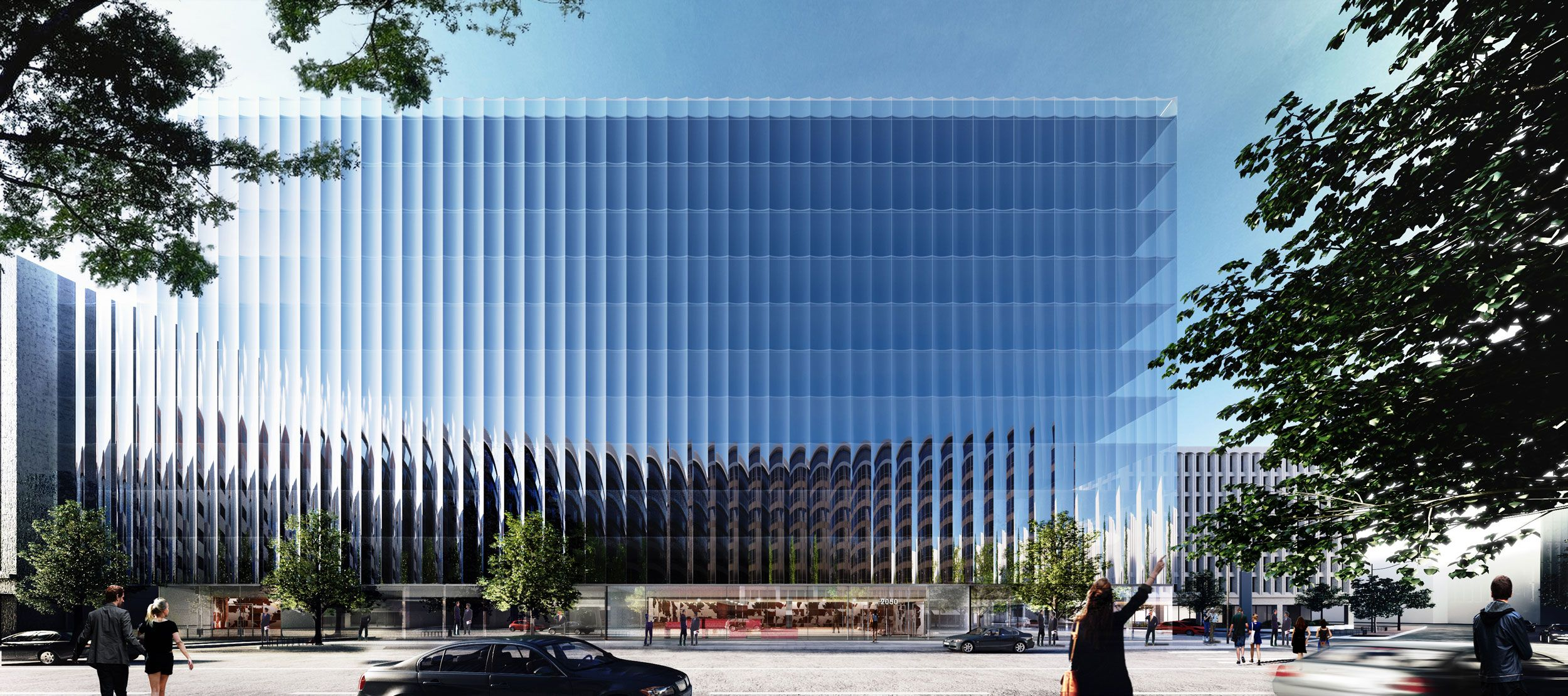 REX unveils a fluted glass office building in Washington DC