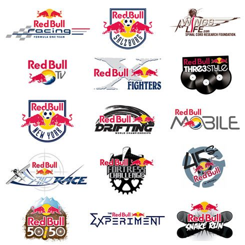 Redbull And Some Stylized Brands For Events  Red Bull