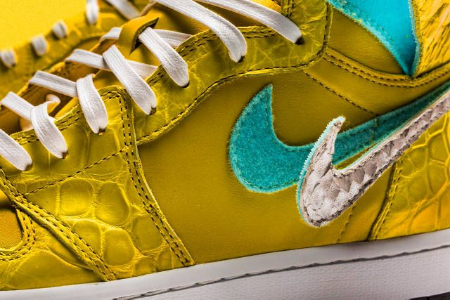The Shoe Surgeon air jordan 1 nike canary yellow diamond supply co dunk low  yellow sneaker drop release date info buy leather remake custom bespoke  handmade bb7a225b8