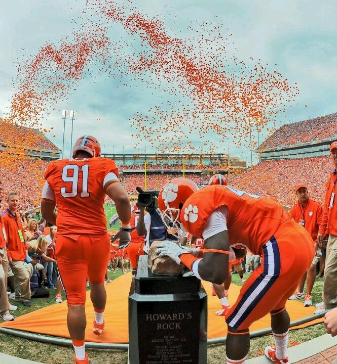 Howard S Rock Clemson Clemson Tigers Football Is Life If you know anything about who might. clemson tigers football