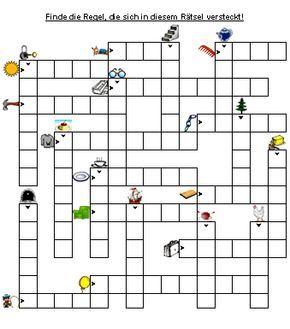 Ich bin nicht begeistert von diesem Kreuzworträtsel