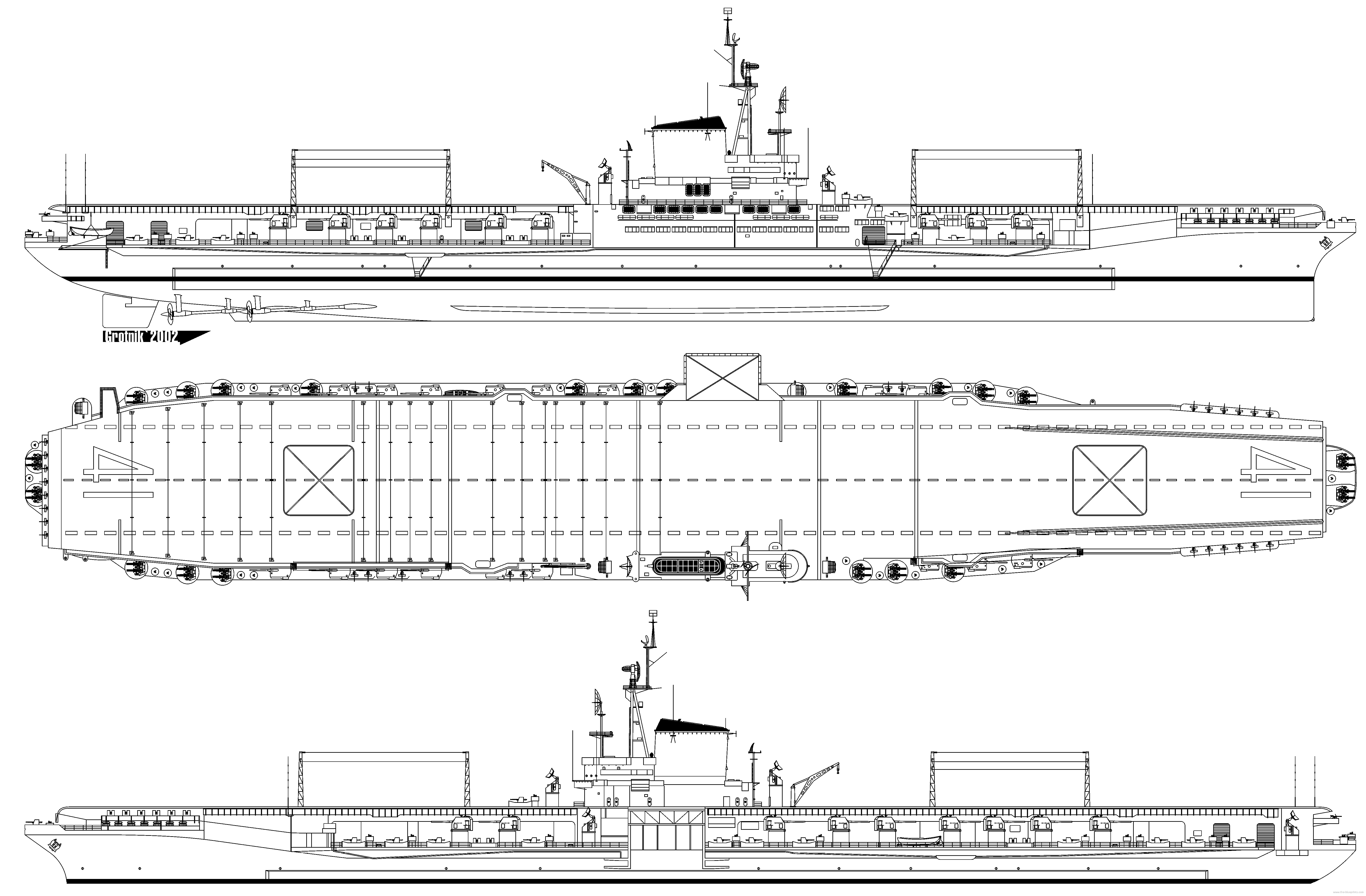 aircraft carrier diagram honeywell pir sensor wiring uss cv 41 midway 1946 png 63294153