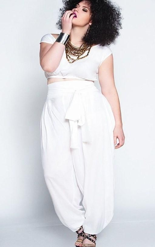 Plus size all white party dresses - http://pluslook.eu/fashion ...