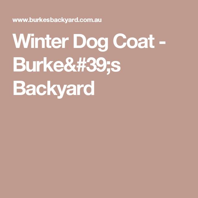 Burkes Backyard Dogs winter dog coat - burke's backyard | sewing | pinterest