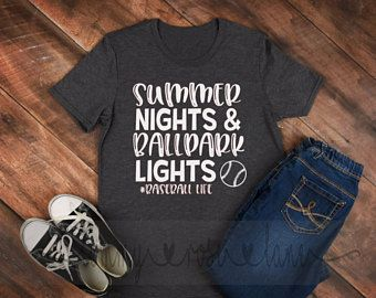 a7b254c6dfa Summer Nights and Ballpark Lights Tshirt