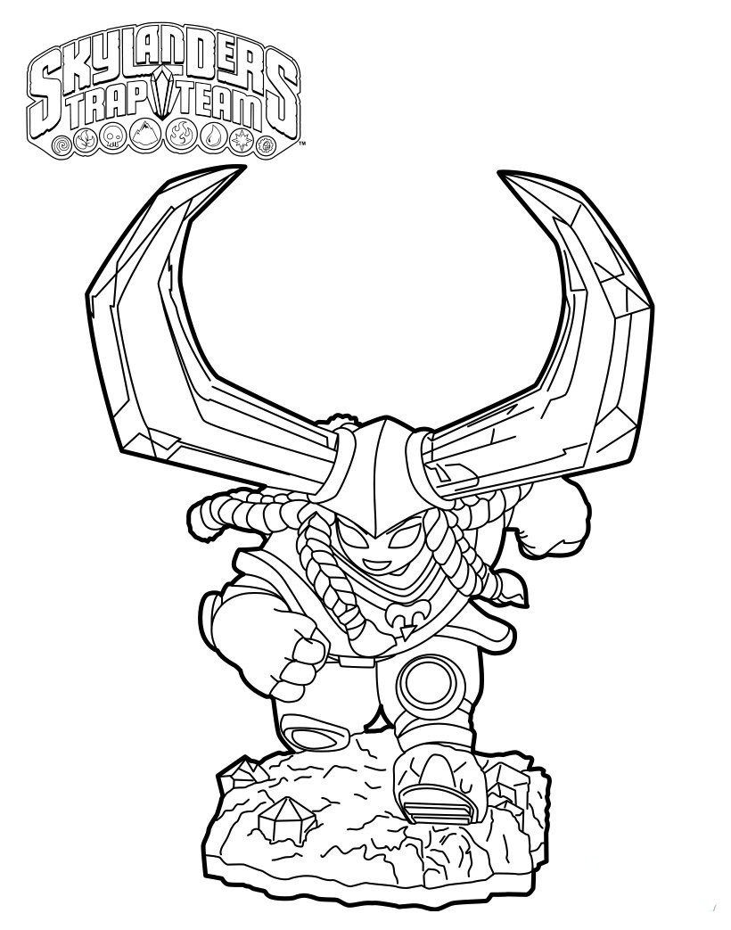 Head Rush From Skylanders Trap Team Coloring Pages | Nickelodeon ...