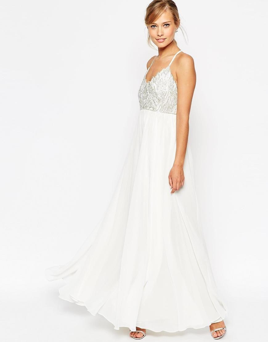 Asos asos salon cami strap embellished maxi dress at asos formal