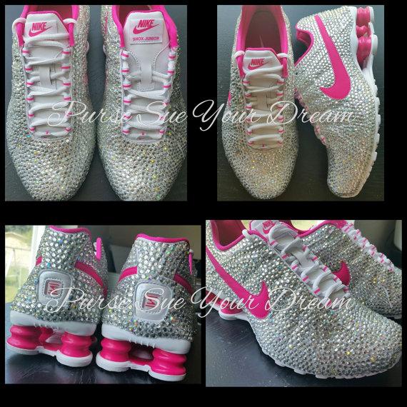 6ff392ef72af Custom Crystal Swarovski Rhinestone Nike Shox Shoes - Swarovski Shoes - Custom  Nike s