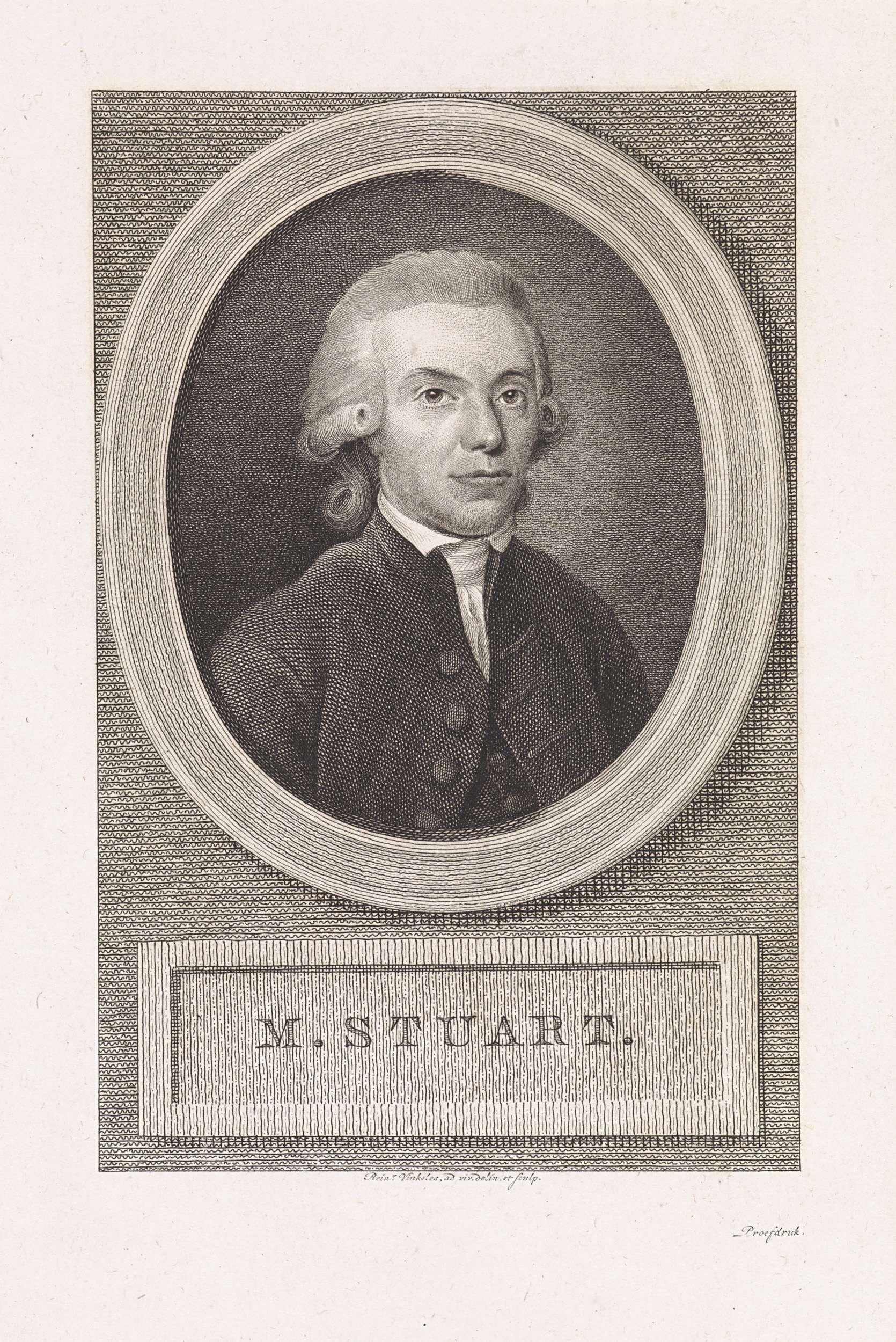 Reinier Vinkeles | Portret van Martinus Stuart, Reinier Vinkeles, 1793 - 1816 | Portret van Martinus Stuart, predikant en schrijver te Amsterdam.