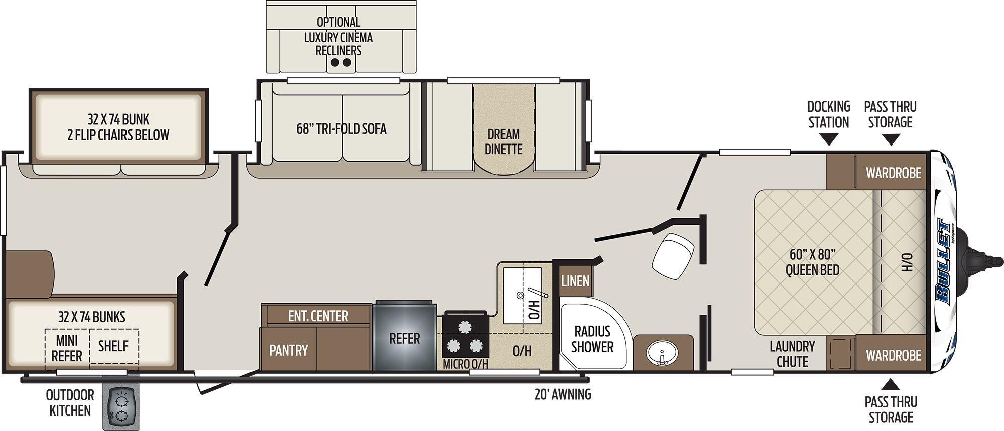 Keystone Bullet 331bhs Camping World Of Harrisburg 1705458 Travel Trailer Floor Plans Travel Trailer Storage