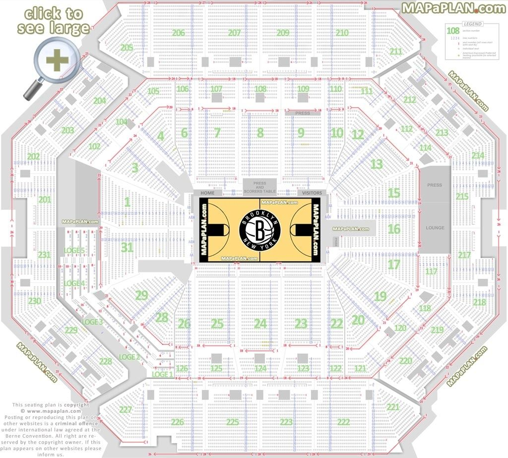 Barclays Center Seating Chart Concert Seating Plan Seating Charts The Incredibles