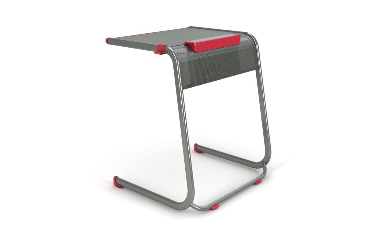 Desk kickstand furniture - Paragon Aandd Cantilever Student Desk With Tablet Kickstand In Red