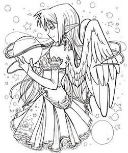 Anime Fairies Colouring Pages Fairy Coloring Pages Chibi Coloring Pages Animal Coloring Pages