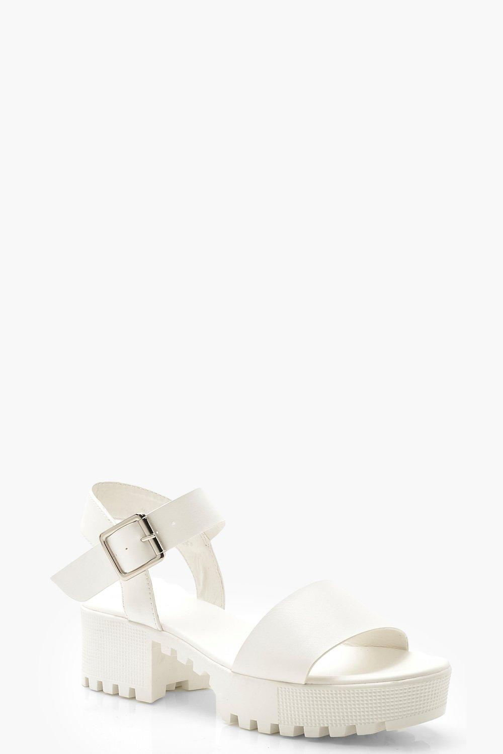 Cleated 2 Part Sandals | boohoo | Women