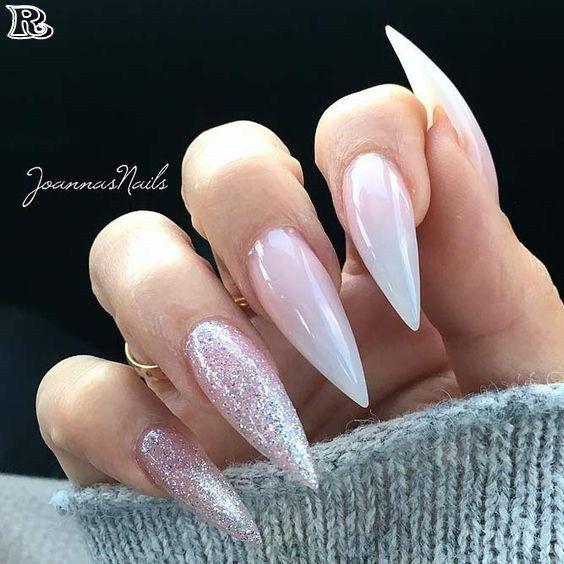 Photo of 55 Stylish Glitter Stiletto Nail Designs   – Gel Nails – #Designs #Gel #Glitter …