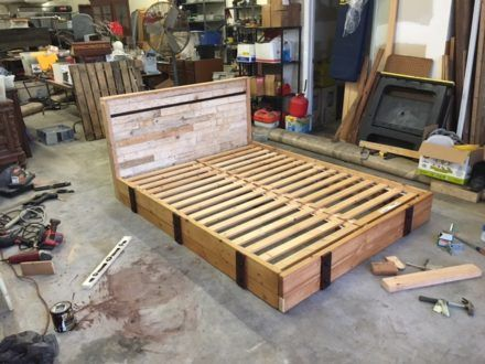 Pallets Misc Warehouse Parts Can Make A Good Bed Pallet Bed