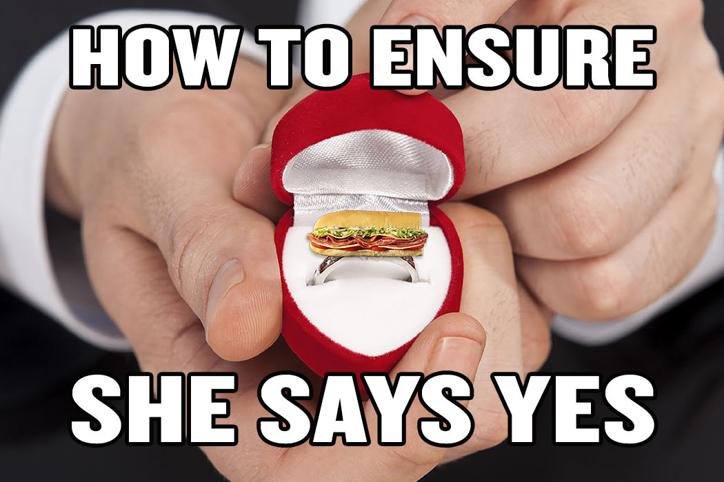 Funny Memes Marriage : How to ensure she says yes! proposal marriage ring funny engagement