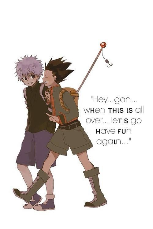 Gon Freecss & Killua Zoldyck   Hunter x Hunter   Credits to the owner of the picture, I don't own the pic~
