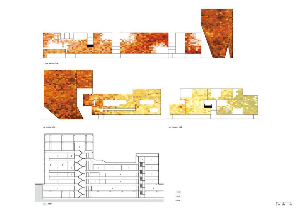 三里屯village立面圖 | Diagram architecture. Architecture. Skyscraper