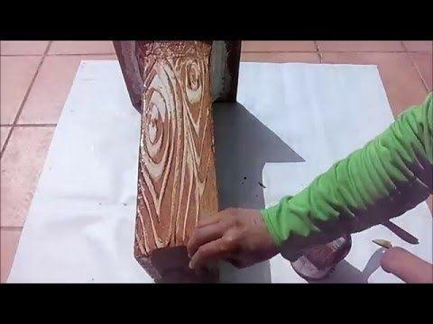 Como pintar imitacion de madera inventos caseros for Tecnica para pintar piedras