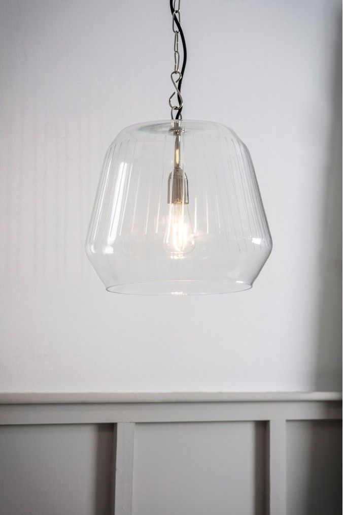 Gosforth Pendant Large Light By Garden Trading Clear In 2020 Bathroom Pendant Lighting Glass Pendant Light Interior Lighting