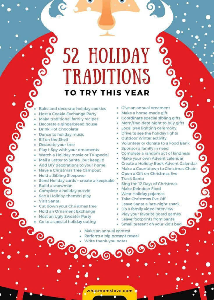 52 Holiday Traditions For Families To Make Christmas Time Magical