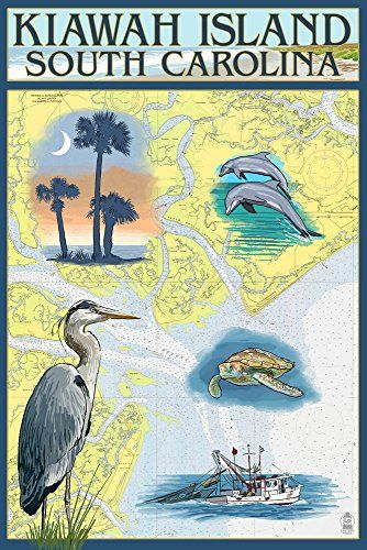Kiawah Island South Carolina Nautical Chart 24x36 Giclee Gallery ...
