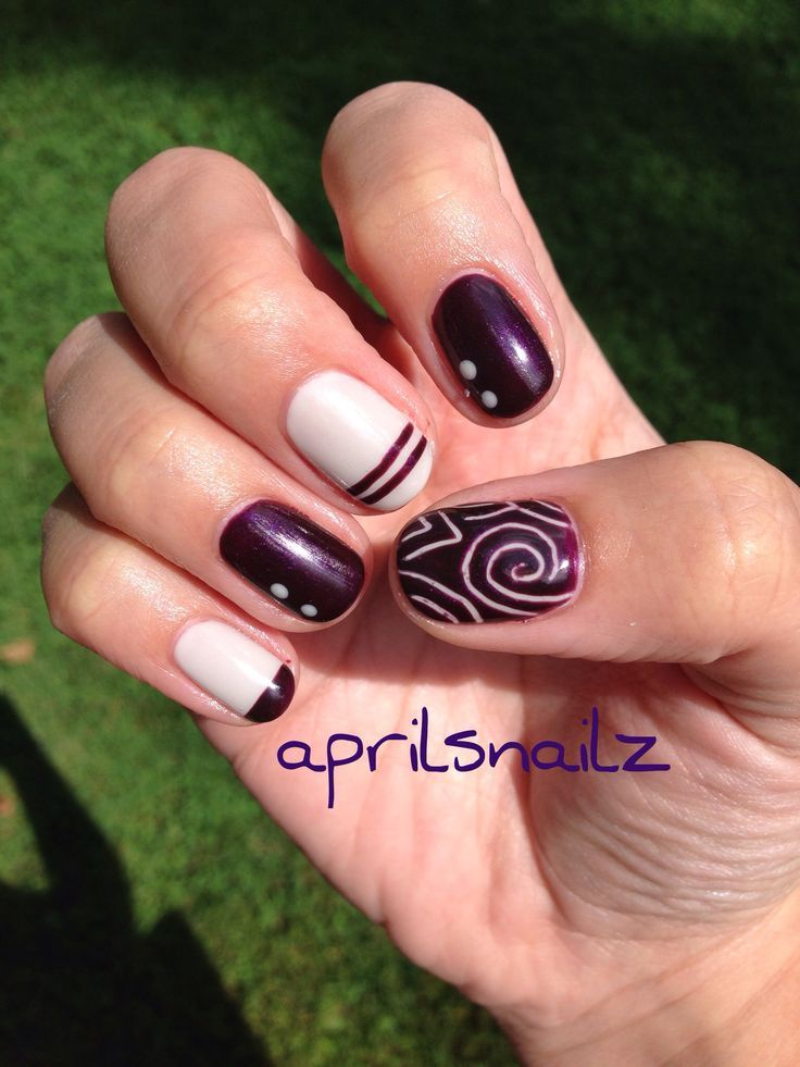 Christy C\'s nails | CND Shellac Cityscape & Plum Paisley ...