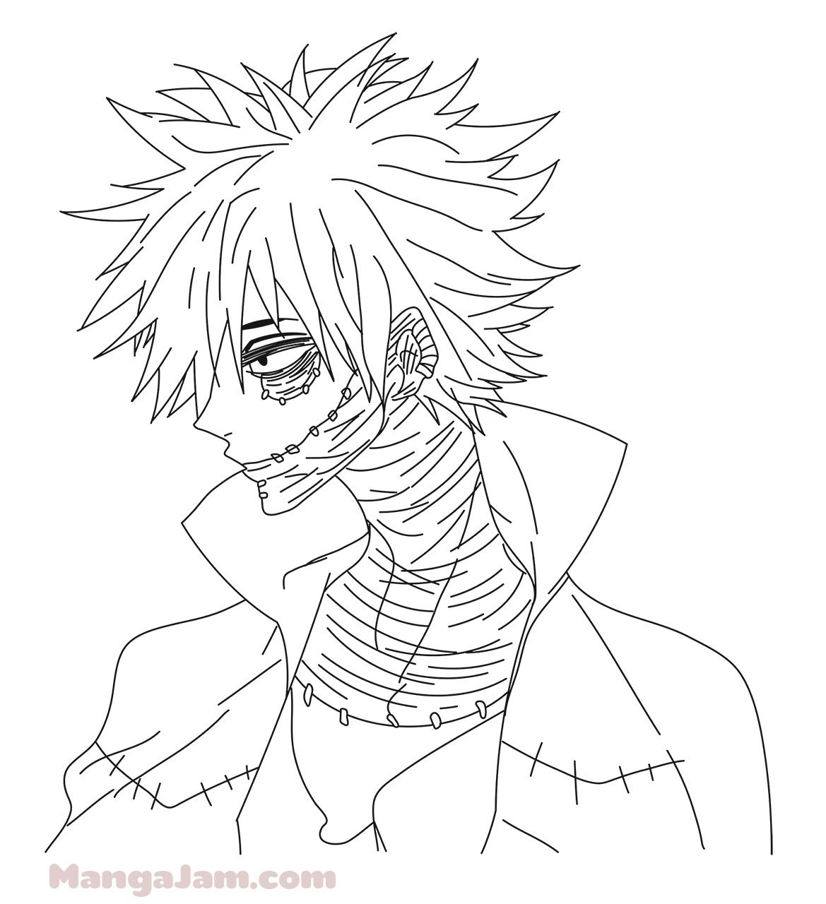 How To Draw Dabi From Boku No Hero Academia Mangajam Com Manga Coloring Book Best Friend Drawings Drawings