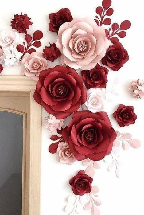 Paper Flowers Diy Ideas Para Fiestas Wall Room Craft Projects Project Art Studios