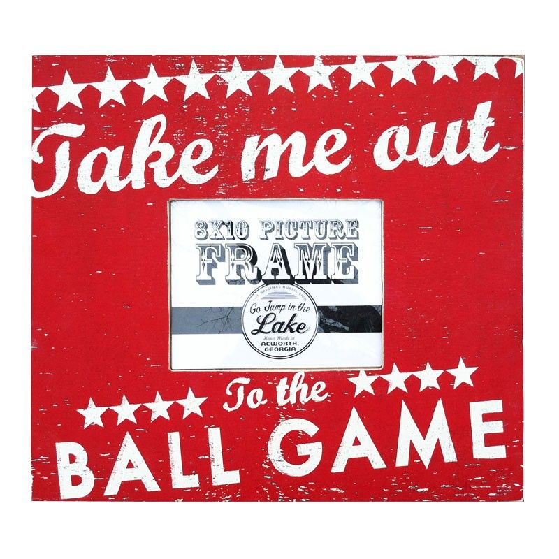 Go Jump In The Lake Take Me Out To The Ball Game Picture Frame