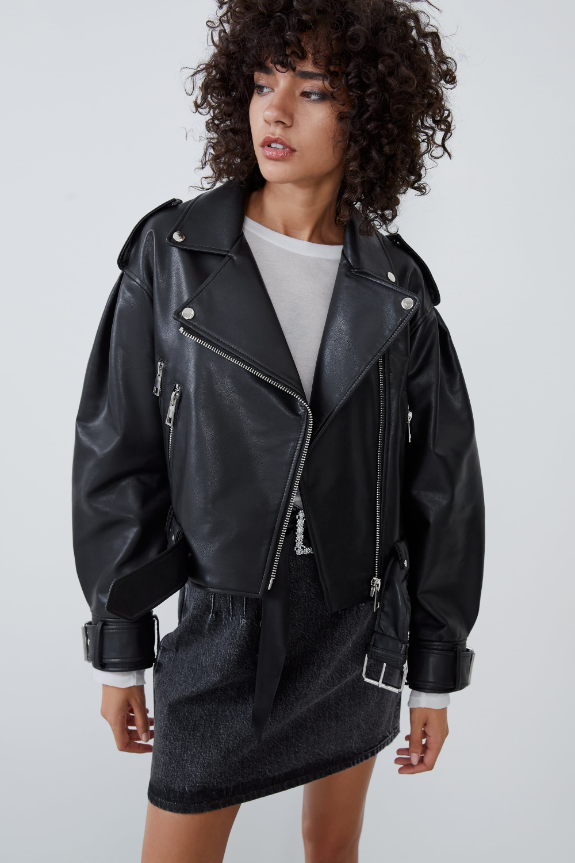 Faux leather jacket Vegan leather jacket, Faux leather
