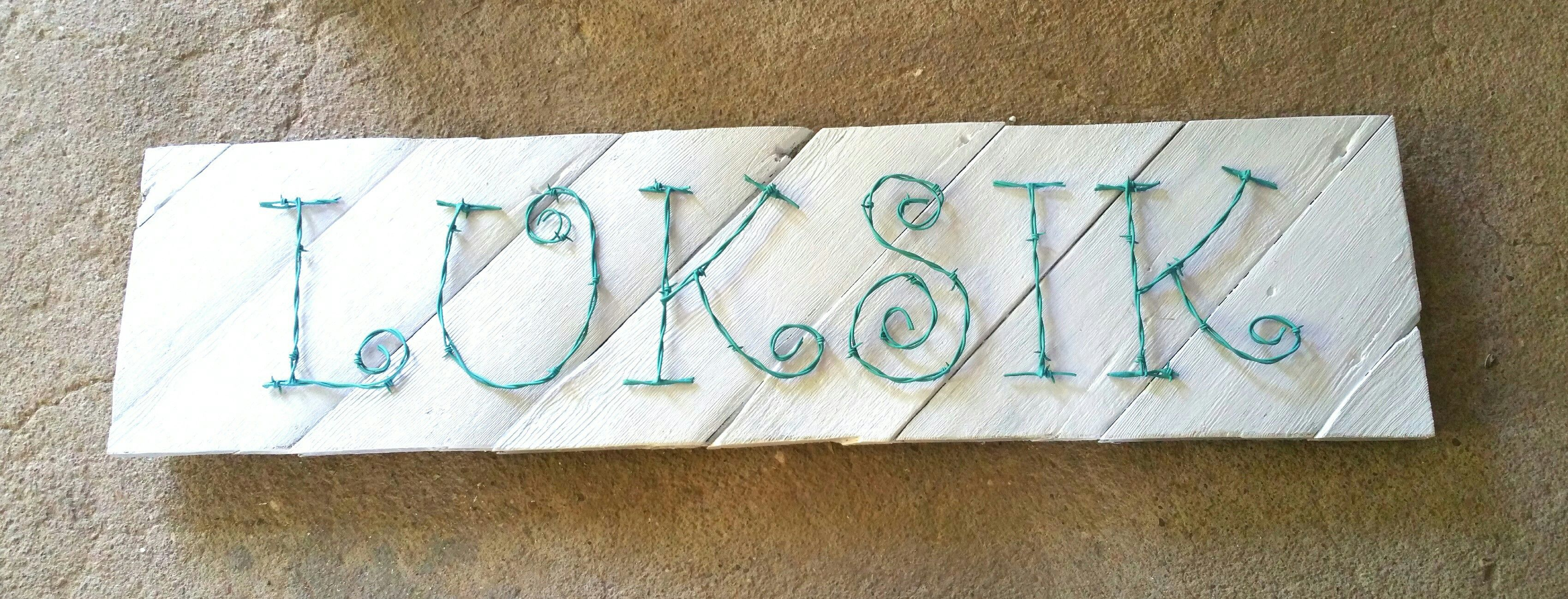 Custom Name Board in lettering style 1 made from upcycled recycled ...