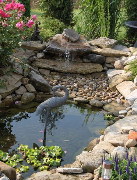 Pond With Turtle Island Pond Landscaping Pond Waterfall 400 x 300