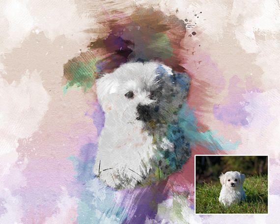 pet owner gift housewarming gift dog portrait pet memorial personalised gift digital art file Custom pet portrait cat portrait